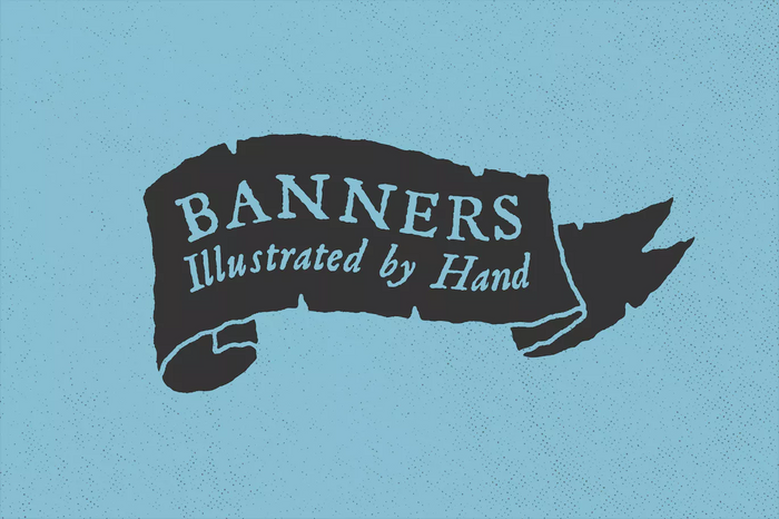 Hand illustrated banners vectors