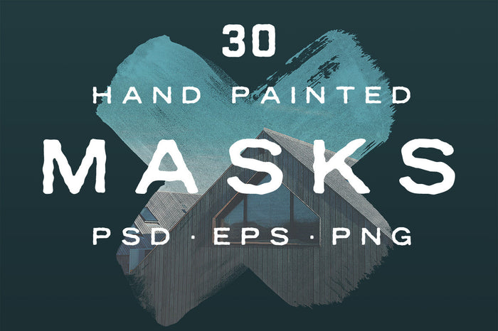 Hand painted photo masks