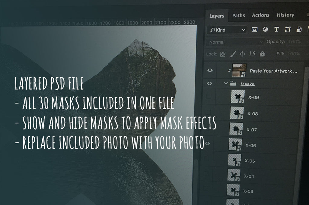 Layered photoshop PSD masks