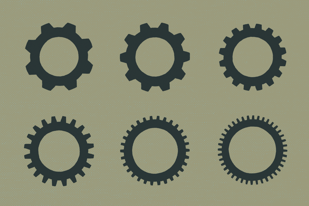 Gear Badge Shapes Illustrations