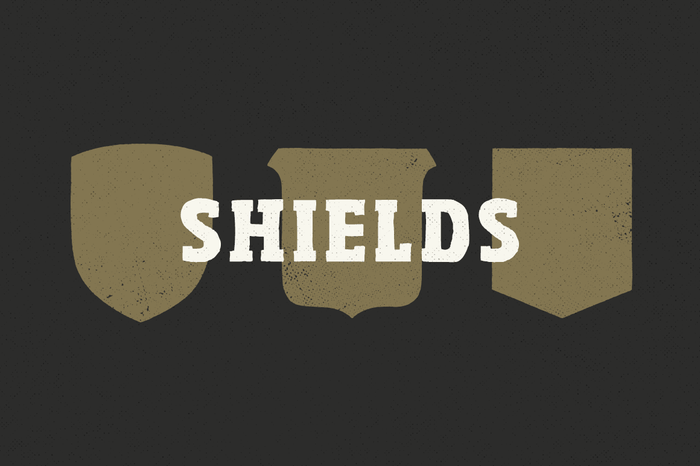 Vector Shield Shapes