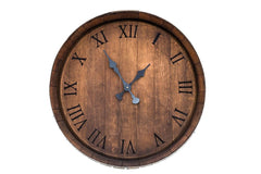 Burgundy Oak Clock