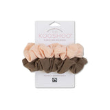 Blush & Walnut Scrunchies