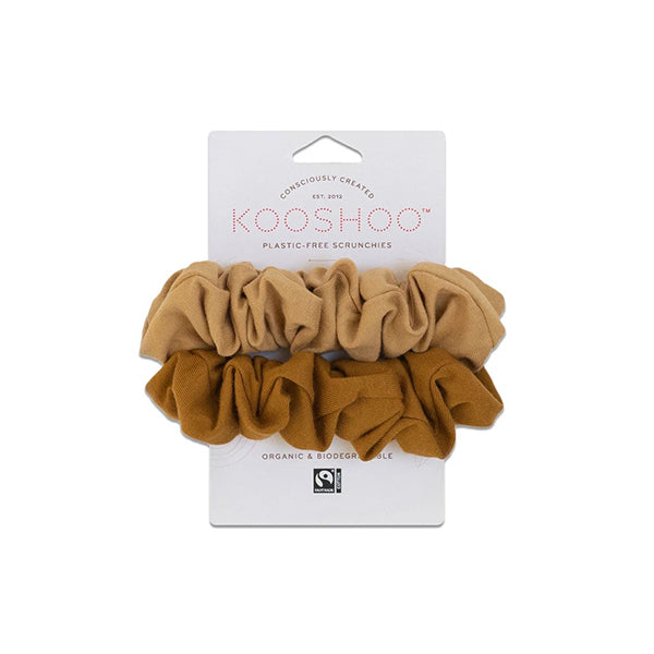 Gold & Sand Scrunchies