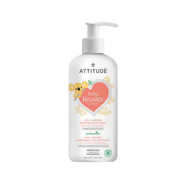 Attitude - Baby Leaves 2-in-1 Shampoo Pear Nectar