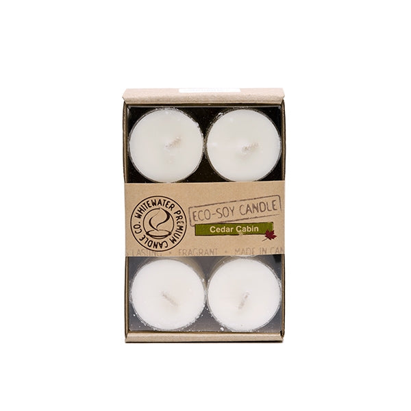 Whitewater Eco Soy candles - Cedar Cabin Tea Lights