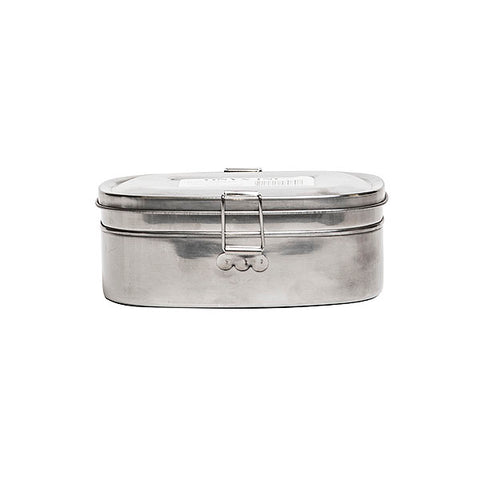 Medium Stainless Steel 2 Layer Sandwich Box
