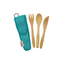 Kids Bamboo Utensil Set Blue