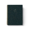 Dark Sparkles Spiral Notebook