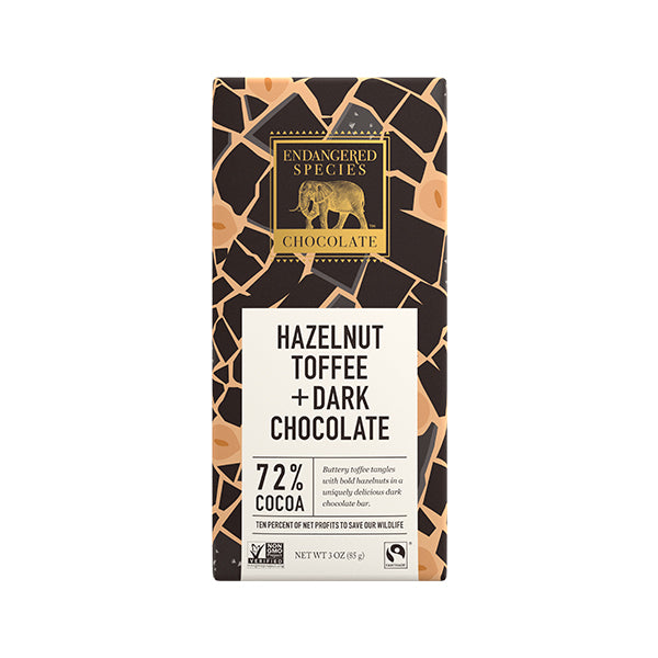 Dark Chocolate with Hazelnut Toffee