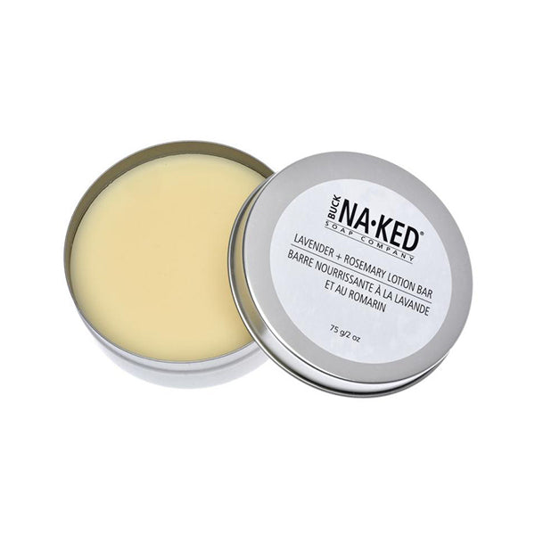 Buck Naked Soap Company - All-Natural Lotion Bar Lavender Rosemary