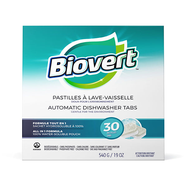 Bio-Vert - All in 1 Water Soluble Dishwasher Tabs