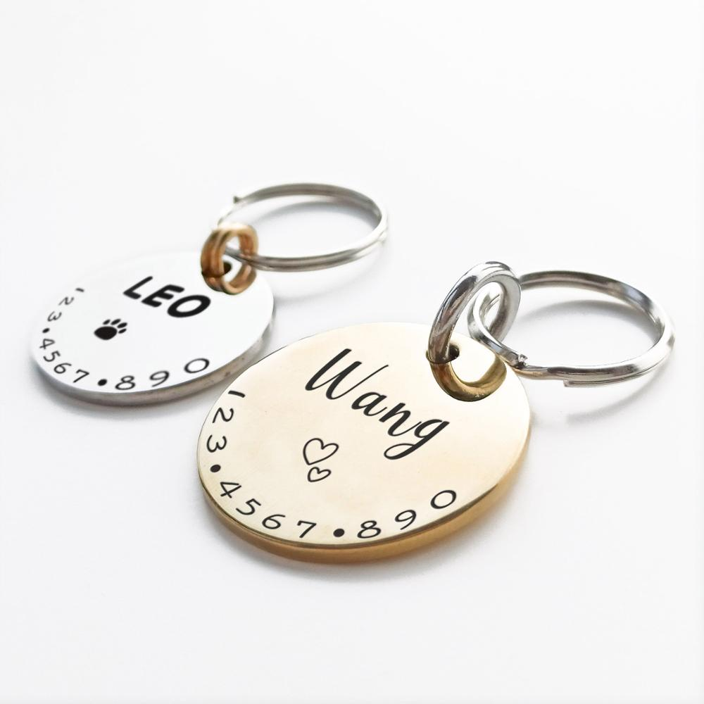 Pet Cat Dog ID Tag Collar Accessories