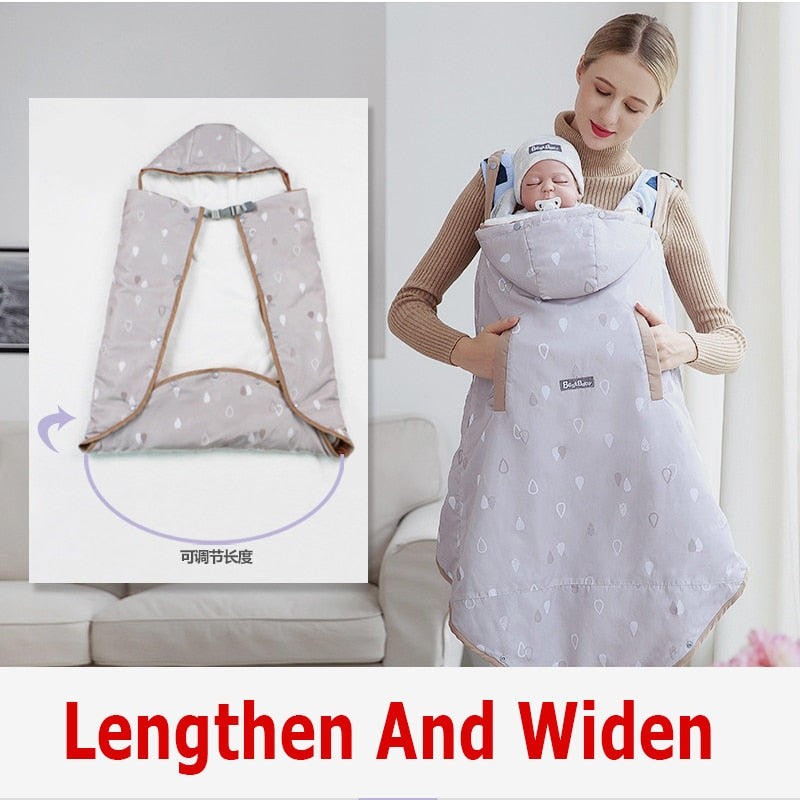 Winter Baby Carrier Cover Outdoor Thicken Lengthen Cloak