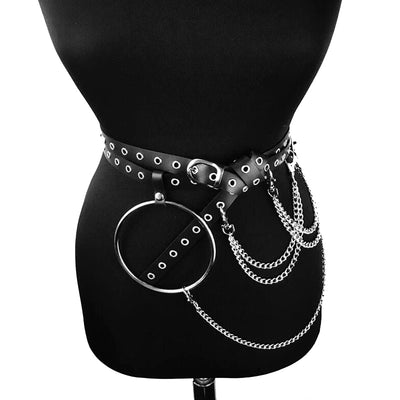 Big O ring Metal Chain belt