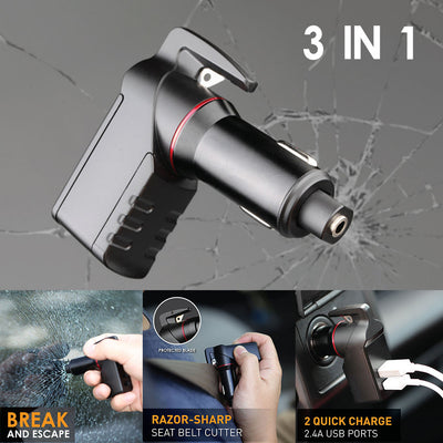 3 in 1 USB Car Emergency Charger