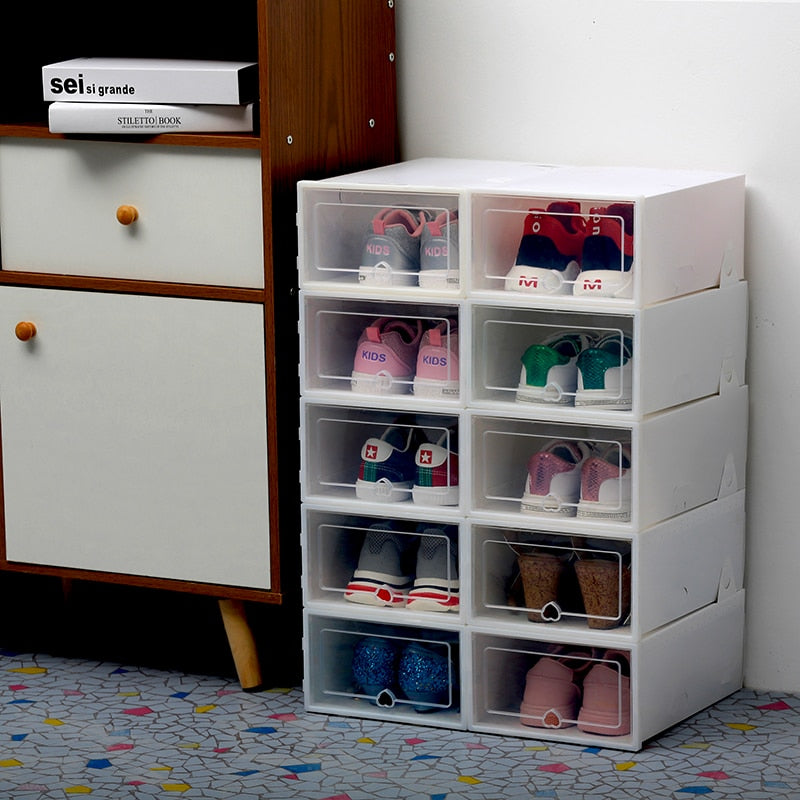 6 PCS Transparent Shoe Drawer