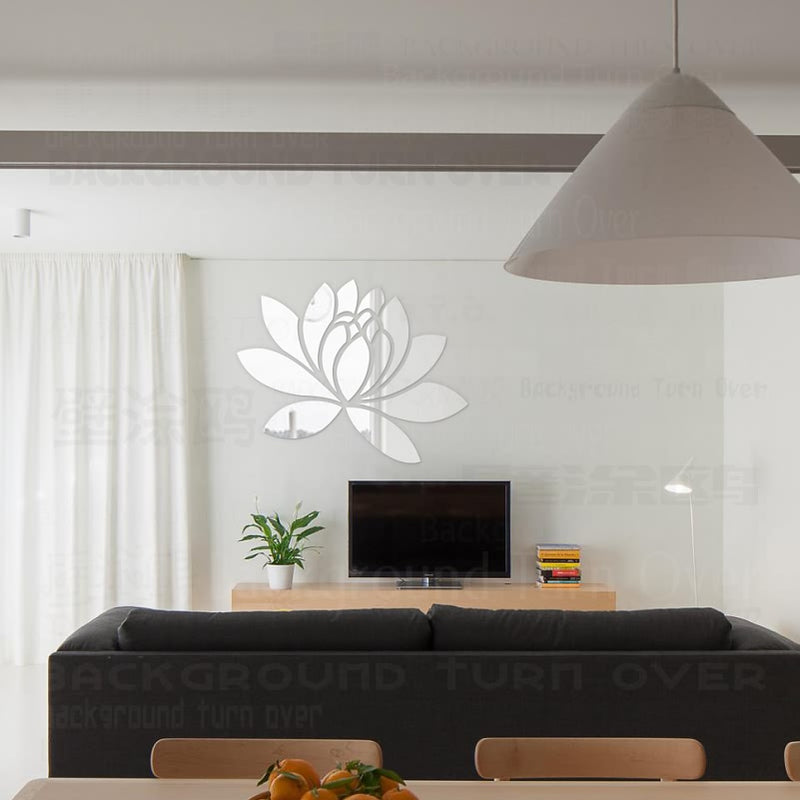 Lotus Flower Petals Mirror Wall Stickers