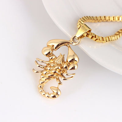 Scorpio Long Chain Pendant Necklace
