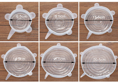 6Pcs Set Reusable Silicon Stretch Lids