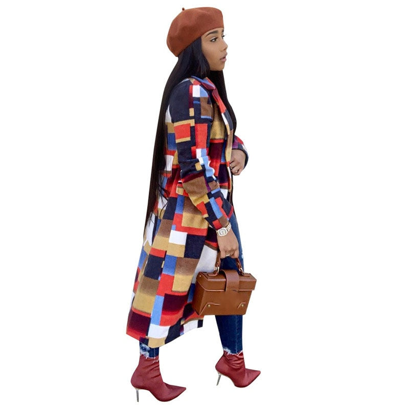 New Patchwork Long Coat
