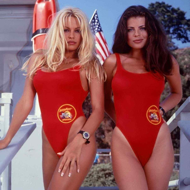 Sexy American Baywatch Babe One Piece