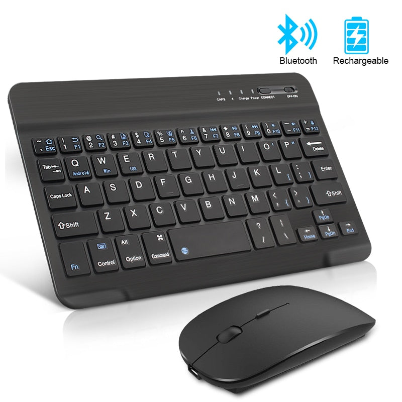 Wireless Keyboard and Mouse Mini Rechargeable Bluetooth