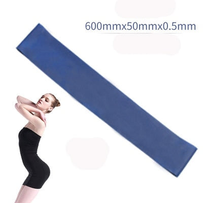 5 Colors Yoga Resistance Rubber Bands Indoor Outdoor Fitness