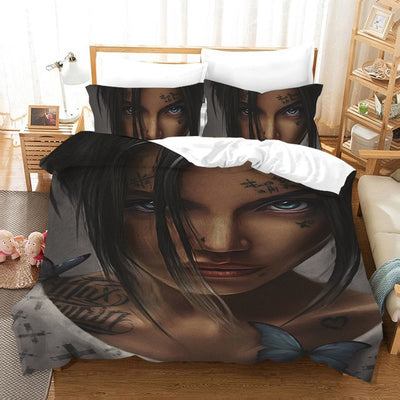 3D African Sexy  Fashion Girl Duvet Cover Bedding Set