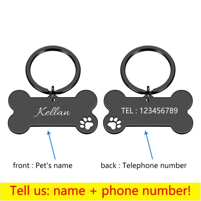 Personalized Collar Pet ID Tag Engra