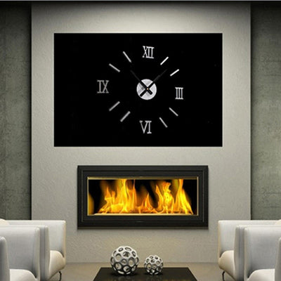 3D Luxury Mirror Wall Clock Sticker Home Decor