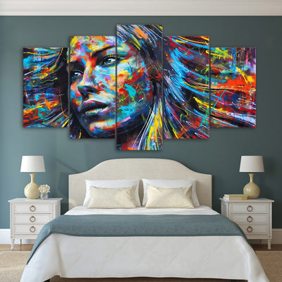 Colorful Hair Don't Care 5PCS Canvas