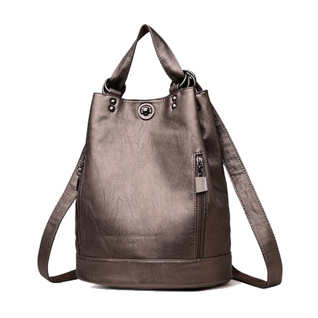 Multifunction Leather Shoulder Bag
