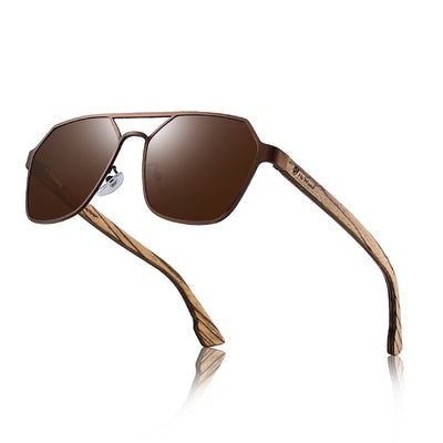 Cool Unisex Temple Wood Sunglasses