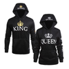 King Queen Crown Unisex Hoodies