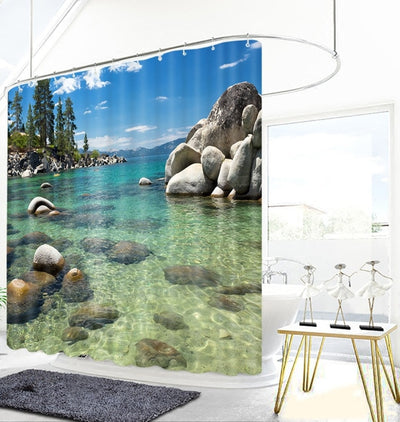 Walk In Paradise Shower Curtains