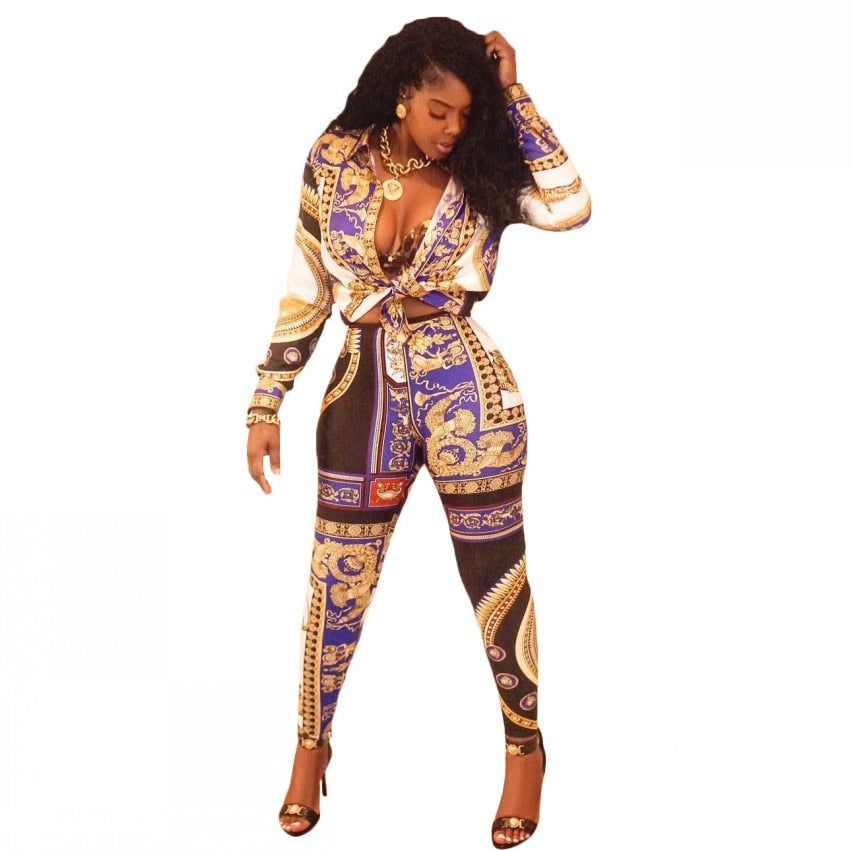 Royal Print Leggings Sets