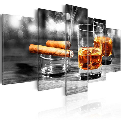 Cigars & Wine 5PCS Canvas