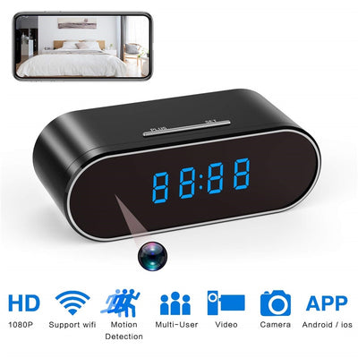 Secret Camera Alarm Clock with Security Night Vision Motion Detection