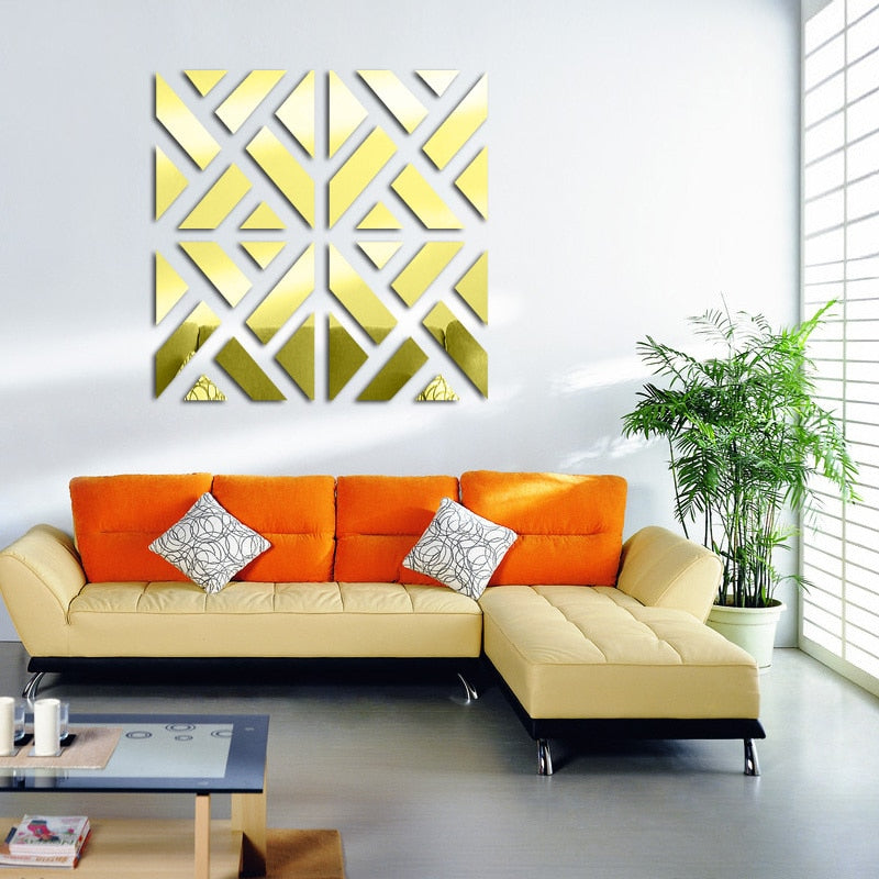 3D Modern Design Mirror Decals