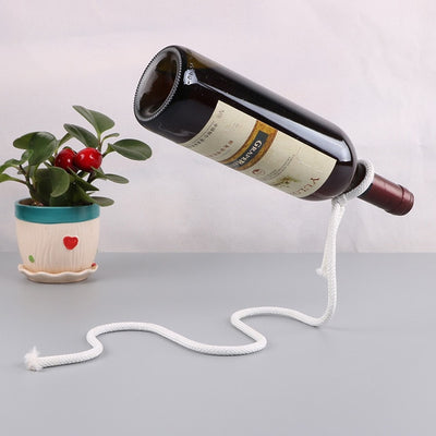 New European Retro Magic Metal Suspension Chain Wine Racks