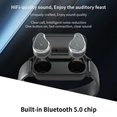 Smart Binaural Bluetooth Headphone & Fitness Bracelet