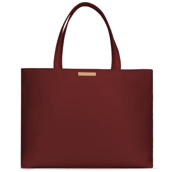 Shopper burgundy red