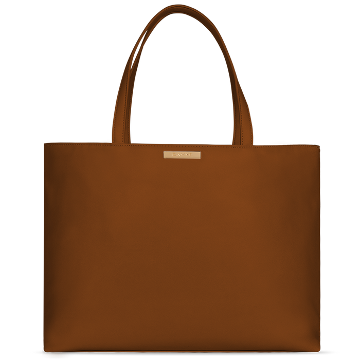 Shopper cognac brown