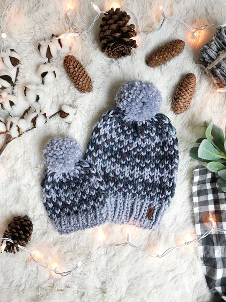 559a5fcf117 Baby Knitted Fair Isle Beanie with YARN Pom Pom    The Lil Hallowell ...