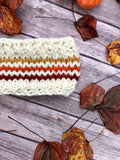 Knitted Adult Headband // Retro Rainbow Stripes (Oranges)