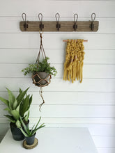 MINI Mustard Knit Wall Hanging with Copper Detail