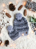 Mommy and Me SET Knitted Fair Isle Beanie with YARN Pom Pom // The Hallowell