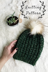 Knitting Pattern Adult Knit Hat Ribbed Beanie // The Rockland