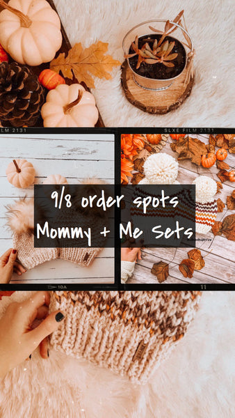 9/8 ORDER SPOTS- Mommy + Me Sets